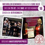 Berliner Amateursportpreis 2020 – votet für unsere Roller Derby Abteilung!